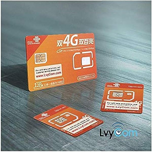 Tarjeta SIM de China de 1 GB Datos 4G LTE + 50 Minutos de Llamadas Locales o 100 Mensajes de Texto. Número Local de China, Recibir código de verificación de SMS Gratis