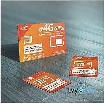 Tarjeta SIM de China de 1 GB Datos 4G LTE + 50 Minutos de Llamadas Locales o 100 Mensajes de Texto. ¡Llamadas y Mensajes de Texto entrantes Gratis!