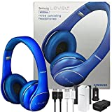 Samsung Universal Level On Wireless ''Noise Canceling'' NFC & Microphone Headphones - W/2100 Battery Pack Wall & Car Charger (US Retail Packing Kit) (Blue)