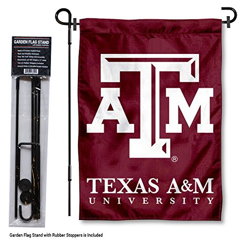 Texas A&M Aggies Garden Flag with Stand Holder -