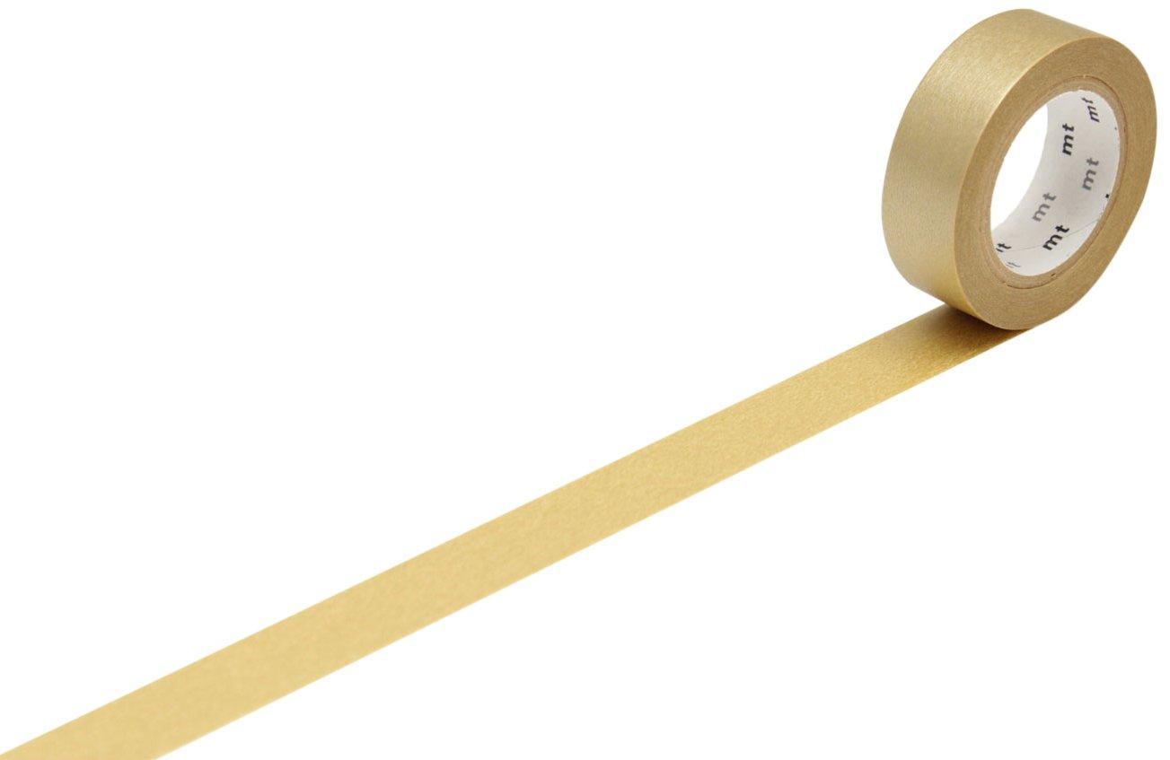mt Washi Masking Tape Roll - Gold Kamoi Kakoshi Co MT01P205Z