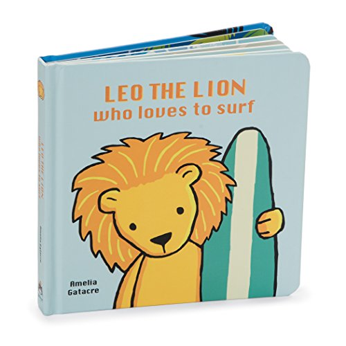 Jellycat Leo The Lion Who Loves to Surf, 6.75 inches x 6.75