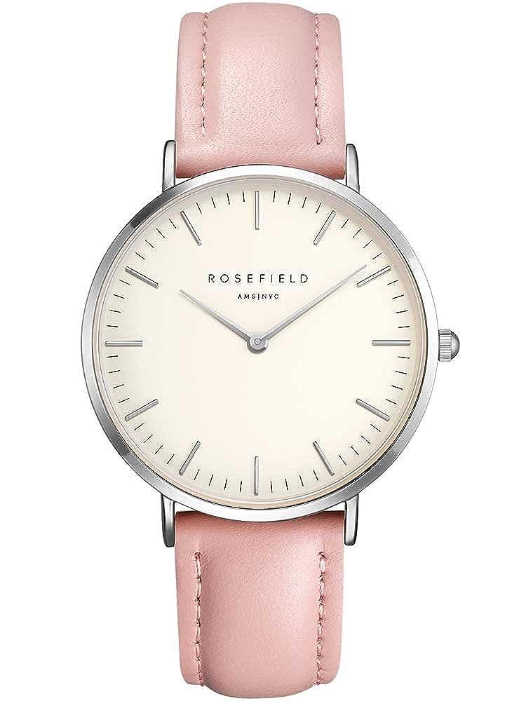 Rosefield Reloj Analógico para Mujer de Cuarzo con Correa en Cuero BWPSB8: Amazon.es: Relojes