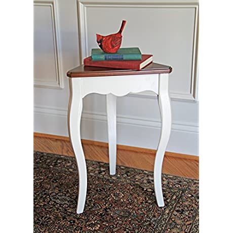 Carolina Accents Penrose Accent Table Cherry White