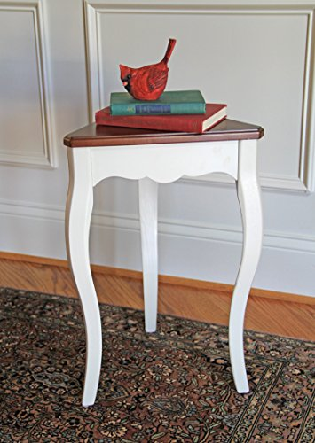 Carolina Accents Penrose Accent Table, Cherry/White