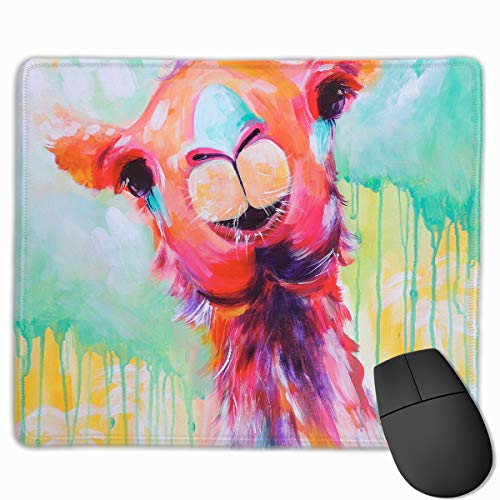 Smooth Mouse Pad Color Painting Llama Mobile Gaming Mousepad Work Mouse Pad Office Pad -