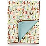 Skip Hop Reversible Plush Blanket, Alphabet Zoo