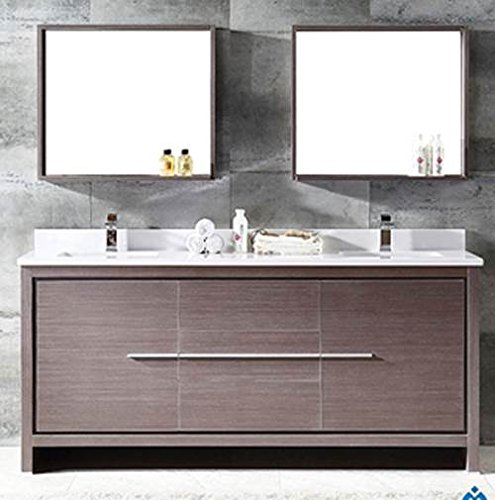 Contemporary Bath Vanity Sink Wood - Fresca Bath FVN8172GO Allier 72