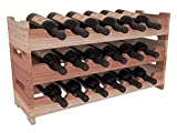 wavy wooden wine rack - Wine Racks America Redwood 18 Bottle Mini Scallop. 13 Stains to Choose From!