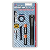 Maglite Mini Incandescent 2-Cell AA Flashlight Combo, Black