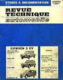 Image de Revue technique automobile, citroen 3 cv, de 1961 à 1968, berline, breack et fourgonnette AK