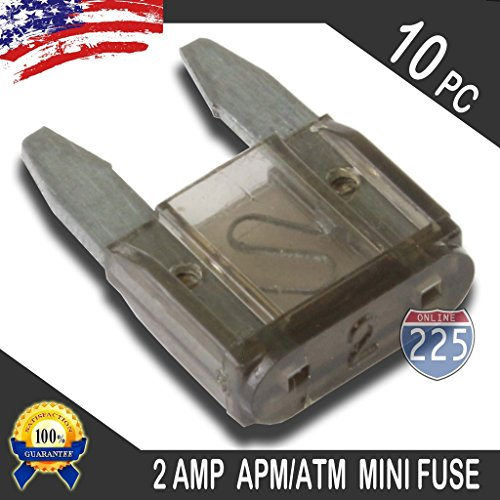 10 Pack 2 AMP APM/ATM 32V Mini Blade Style Fuses 2A Short Circuit Protection Car - Style Automotive Fuse