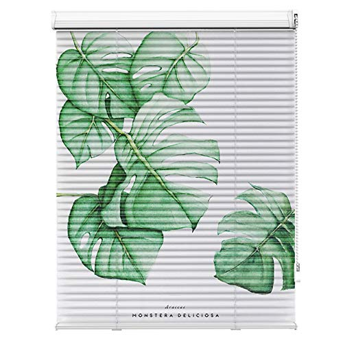 AQAWAS Cordless Blinds for Windows, Mini Blinds Shade, Pull Beads Style Magnetic Blinds, Easy Install for Steel Metal Door Windows,Green_32x36in/82.5×92.5CM