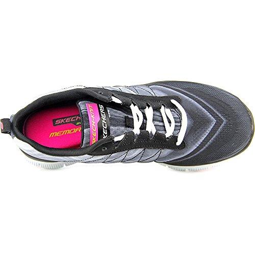 Skechers Sport Frauen ziemlich Bitte Flex Appeal Fashion Sneaker Schwarz-Weiss