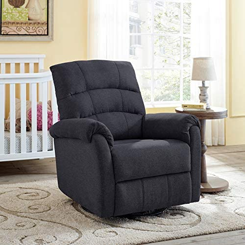 Classic Brands Crescent Upholstered Swivel Glider Rocker Chair