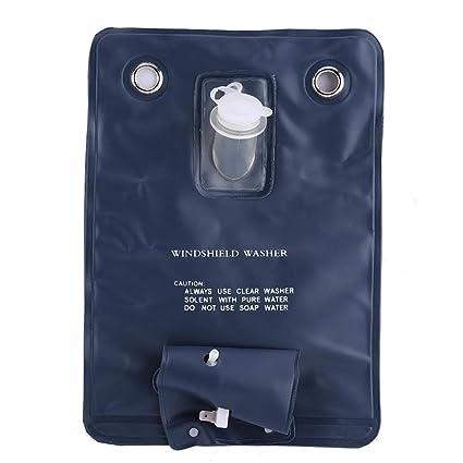 Kit de Bolsa de Bomba de Lavado de Parabrisas Universal Coche 12V con Interruptor de Bot/ón de Chorro Bomba de Limpieza del Parabrisas para Autom/óviles
