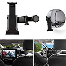 Car ipad holder,Wietus Car Headrest ipad Mount Holder with 360°Adjustable Rotating Car Back Seat Headrest Mount Holder for Tablets,iPad,Galaxy Tab, Note,ebook,Samsung Galaxy,Motorola Xoom, iphone, LG and the devices and tablet between 3.5 ~9.0 inches