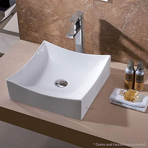 Luxier CS-016 Bathroom Porcelain Ceramic Vessel Vanity Sink Art Basin (Sink Shell Vessel)
