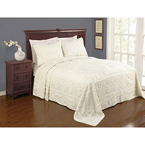 Great Deal! Valerie Ecru Cotton Full Size Bedspread