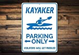 88BoydBertha Kayaker Parking Sign, Kayak Man Cave...