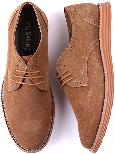 Marino Shoes Sand for Men Oxford Business Shoes Suede Casual Dress pnqOrwHpx8