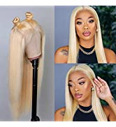 613 Lace Front Wig Human Hair for Women13x4 Straight Blonde Lace Frontal Wigs Human Hair Pre Pluc...