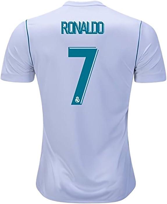 5bb42c4cd5f Pri-Z 2017 2018 Men s Jersey Real Madrid Home Ronaldo 7 Soccer White Size