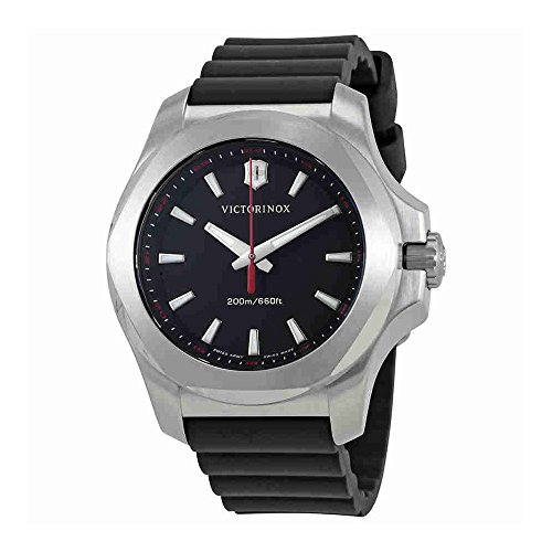 Victorinox I.N.O.X. V Black Dial Black Rubber Ladies Watch 241768