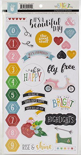 Fancy Pants The Bright Side Chipboard Sticker Embellishments -