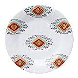 HiEnd Accents DI5002SL04 4 Piece Southwest Melamine Salad Plate, 8.5''