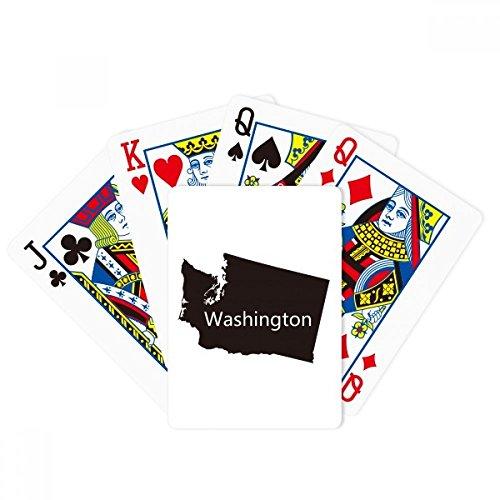 (DIYthinker Washington The United States Map Poker Playing Cards Tabletop Game Gift)