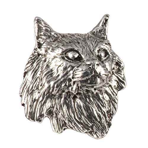 Maine Coon Cat, Pewter Pin, C005