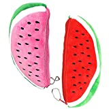 LAAT Portable Watermelon Makeup Storage Pouch Plush Large Bag for Kids Cartoon Coin Purse Cosmetic Pencil Holder Pouch