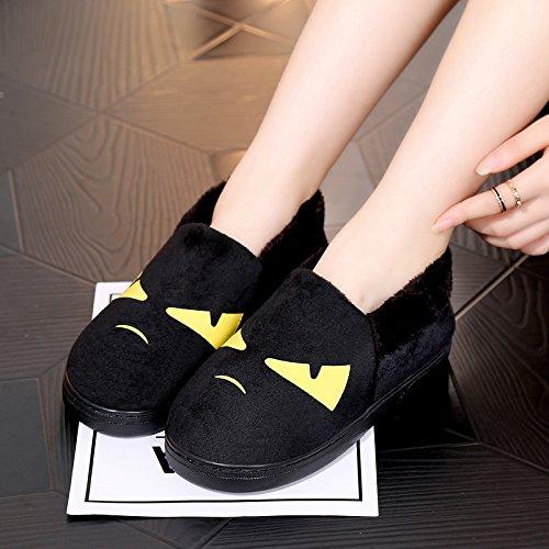 Y-Hui un paio di stivali in inverno maschio Interni Casa Arredamento slip di cotone spessa pantofole Scarpe invernali femmina,280 (Fit per 41-42 piedi),Giallo (Quan Bao)