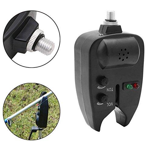 Stebcece 1pc LED Light Waterproof Fishing Bite Indicator Sound Alarms Audio Visual Alert