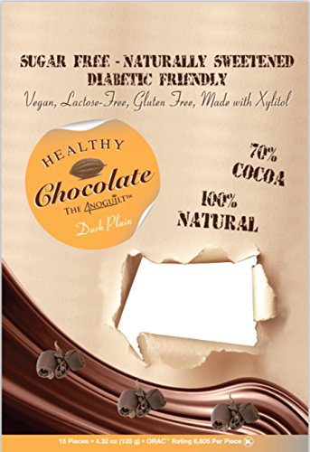 Xylitol Sweetened DARK Chocolates, 15 pcs, 4.23 oz by Healthy Chocolate Compnay