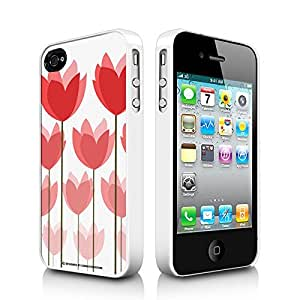 Tulip Fields Apple iPhone 4 4S White Cell Phone Case