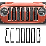 ICARS Matte Black Mesh Grill Inserts Grille Guard for 2018-2019 Jeep Wrangler JL JLU Unlimited Rubicon Sahara