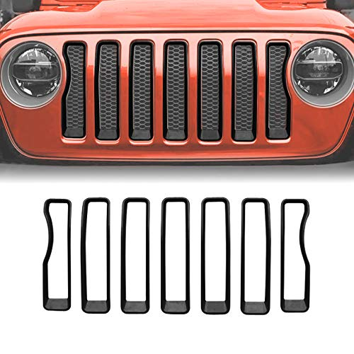 - ICARS Matte Black Mesh Grill Inserts Grille Guard for 2018-2019 Jeep Wrangler JL JLU Unlimited Rubicon Sahara