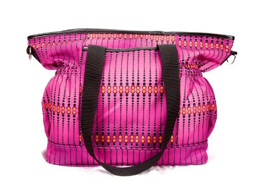 House of Botori Kaira Diaper Tote Bag, Skipper Rum Raisin (Raisin Infant Girl)