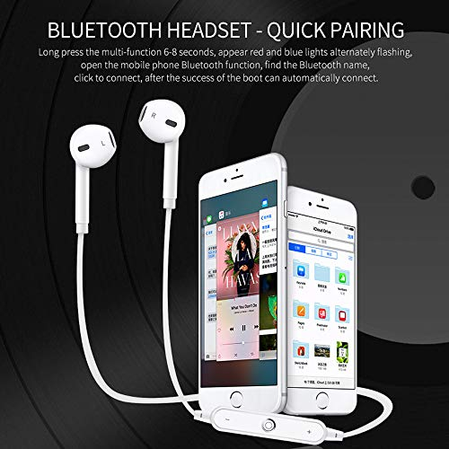 Bluetooth Headphones In Ear Wireless Earbuds 4.2 Sweat proof Stereo Bluetooth Earphones for Sports With Mic,Compatible iPhone X/8/7/ 7 plus/ 6/ 6s plus and Samsung Galaxy S8 S7 and Android Phones by Amuoc (Image #3)