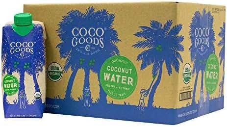 CocoGoodsCo Single-Origin 100% Organic Coconut Water, Non-GMO, Never from Concentrate