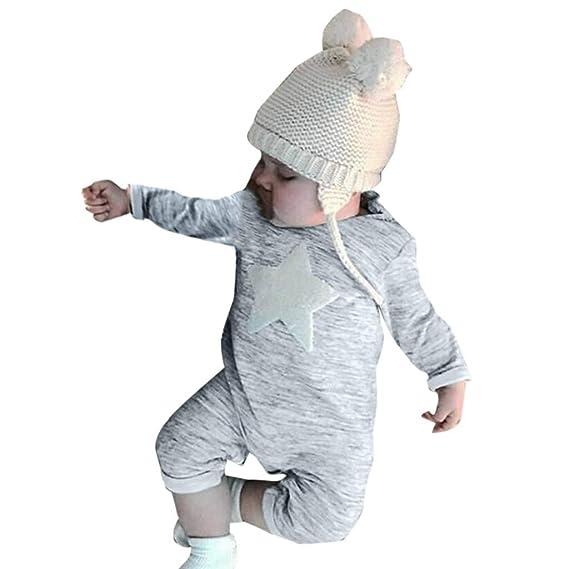 YpingLonk Mameluco Conjunto De Ropa para Niño Estrella Ropa Recién Nacidos Manga Larga Cuello Redondo Peleles Ropa Niña de Disfraces Pequeño Bebé: ...