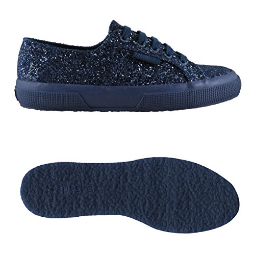 Collo Blue 2750 Basso Sneaker macroglitterw Navy Full Superga Donna A qI8wdcP