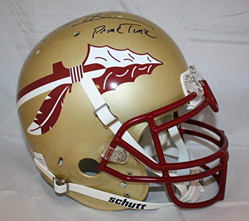 Deion Sanders Signed Florida State F/S Authentic Helmet W/Prime Time- W Aut - JSA Certified - Autographed College Helmets
