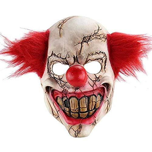 Ainiel Clown Horrific Demon Adult Scary Cosplay Halloween Mask ()