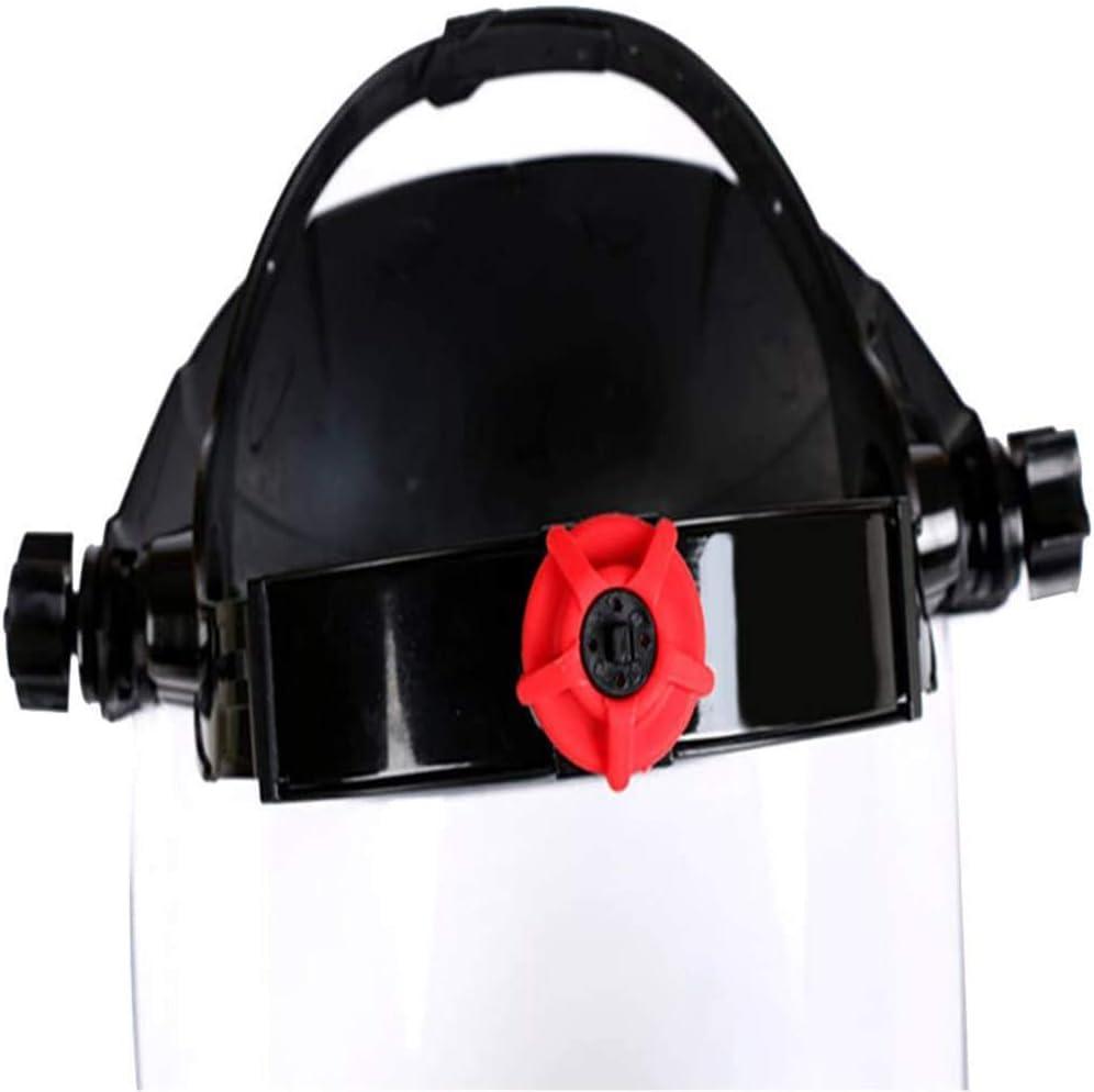 AIJOAIM Visiera di Sicurezza Cappello Protettivo Copertura Tutto Il Viso Antiappannamento Antisaliva Gli Occhi E La Testa con Copricapo Protettiva Maschera Protettiva