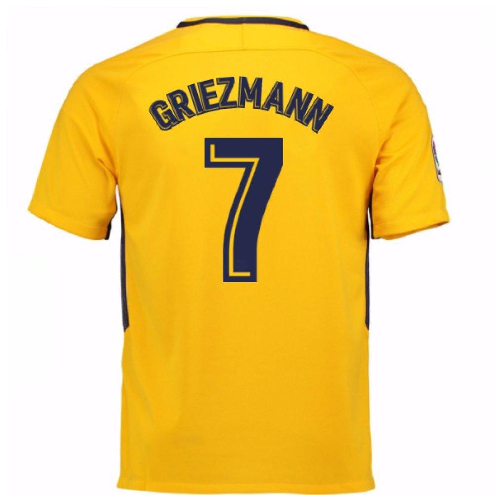 2017-18 Atletico Madrid Away Football Soccer T-Shirt Trikot (Antoine Griezmann 7) - Kids