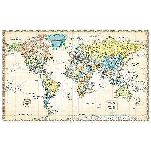 World map amazon rand mcnally classic world wall map laminated gumiabroncs Choice Image