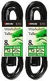 2-Pack - Woods 0260 - 8 Foot General Purpose Black Extension Cords - 16/3 SJTW